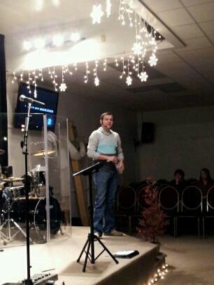 Evan Preaching 2