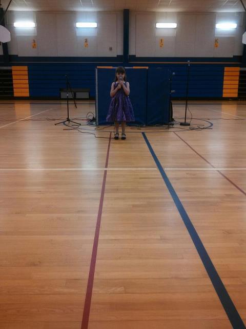 Victoria singing Kindergarten