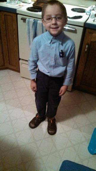 Samuel on Nerd Day